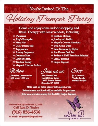 Pamper Party Flyer